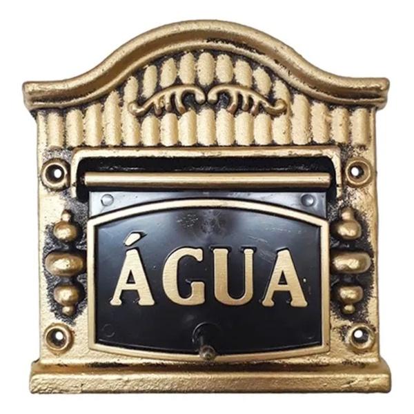 Visor Para Relógio De Água Ouro Nº9 19cmX17,5cm - Fortral