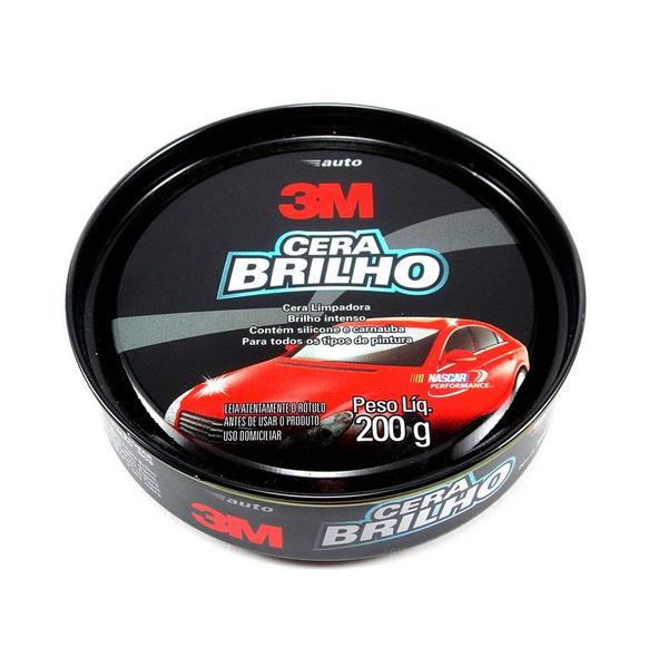 Cera Auto Brilho Limpadora 200g - 3M