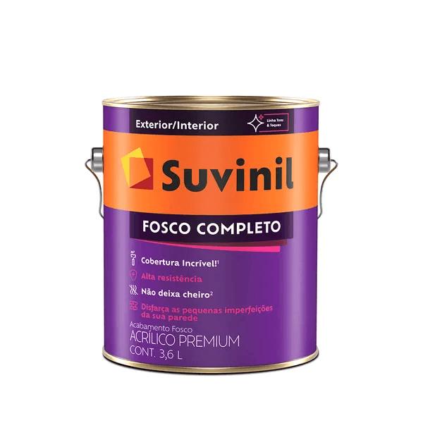 Tinta Acrílica Fosco Suvinil Fosco Completo 3,6L - (Escolha Cor)