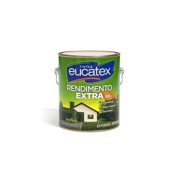 Tinta Acrílica Fosco Eucatex Rendimento Extra 3,6L - (Escolha Cor) *