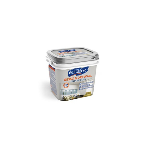 Tinta Acrílica Gesso Branco Eucatex 3,6L
