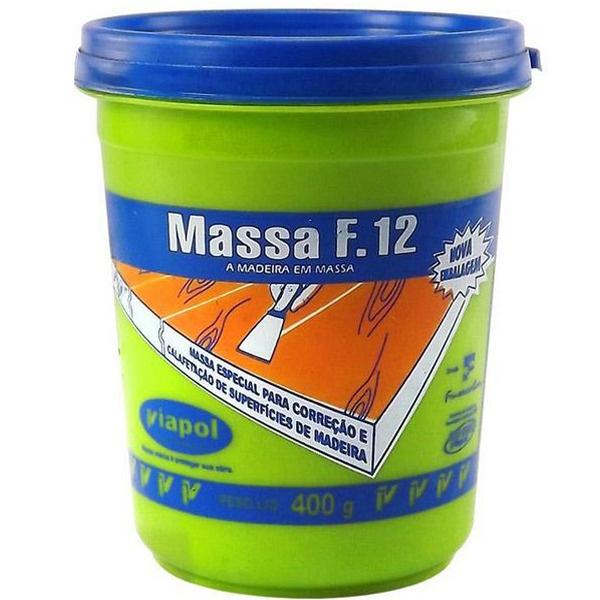 Massa para Madeira (Escolha Cor) Viapol F12 400gr