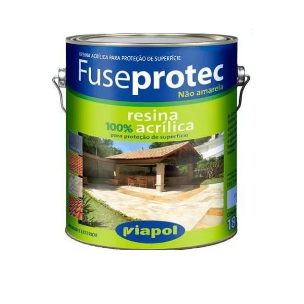 Resina Acrílica Incolor Semi-Brilho Fuseprotec 3,6 Litros - Viapol