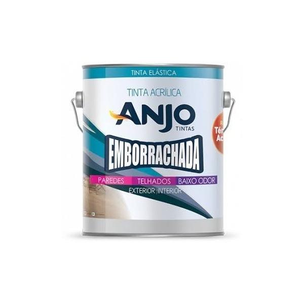Tinta Acrílica Acetinado Emborrachada Branco Anjo 3,6L