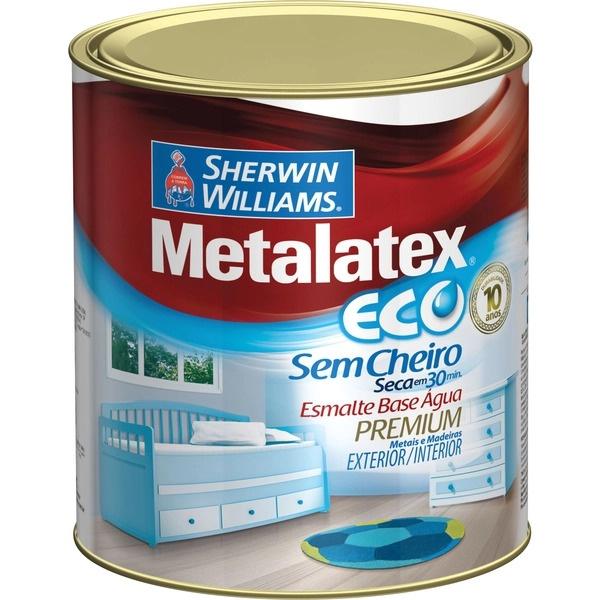 Esmalte Brilhante Metalatex Eco Base Água 900ml - (Escolha Cor)