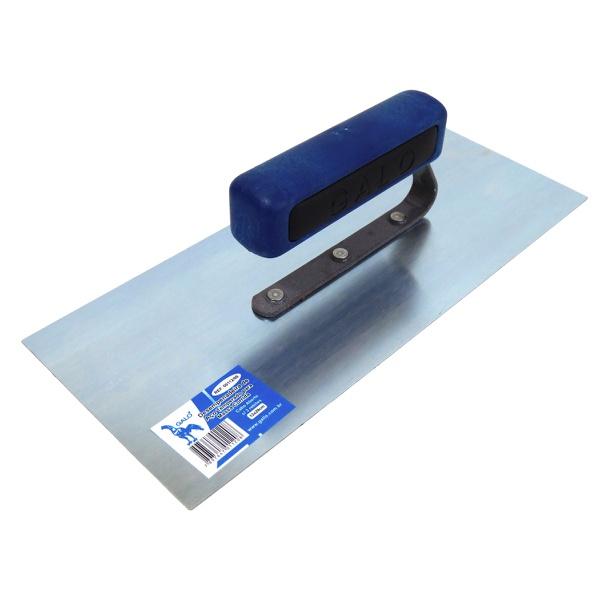 Desempenadeira Aço Lisa 12x29cm Cabo Azul Aberto - Galo