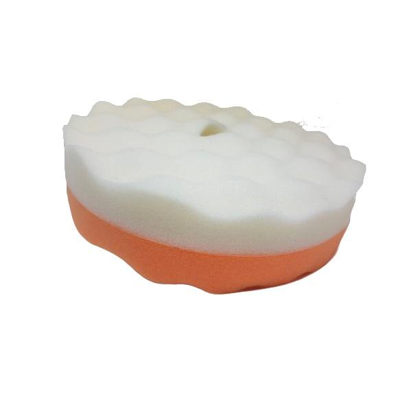 Boina Espuma Dupla Face Branca/Laranja '8' (CORTE E REFINO) - Lazzuril