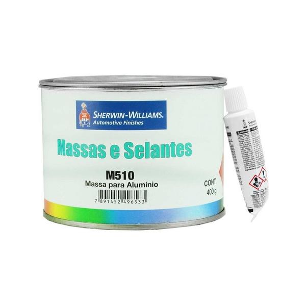 Massa Poliéster para Alumínio - M510 400g - Kit com Catalisador - Lazzuril