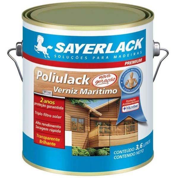Verniz Acetinado Incolor Maritimo 3,6Litros Poliulack - Sayerlack
