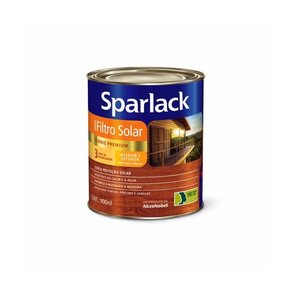 Verniz Acetinado Incolor com Filtro Solar Sparlack 900ml