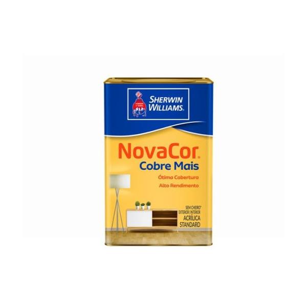 Tinta Acrílica Standard Novacor Cobre Mais Fosco 18L (Escolha Cor)