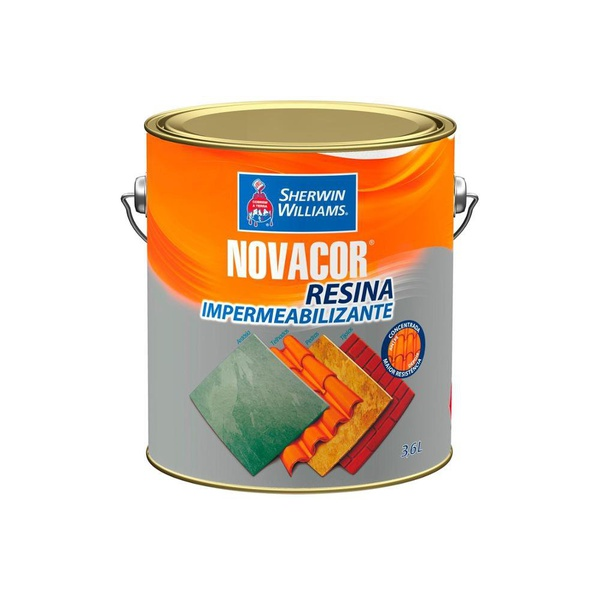 Resina Acrílica Brilhante Incolor 3,6 Litros - Novacor