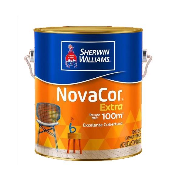 Tinta Acrílica Standard Novacor Extra Mais Rendimento Fosco 3,6L (Escolha Cor)