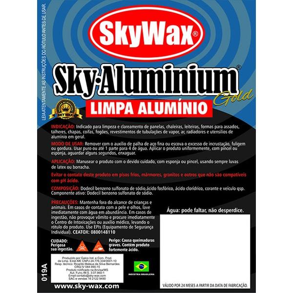 Limpador Concentrado de Aluminio 1l - Sky