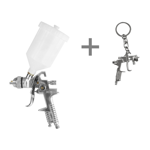 Pistola para Pintura 1,4MM HVLP BC 75 + CHAVEIRO 796
