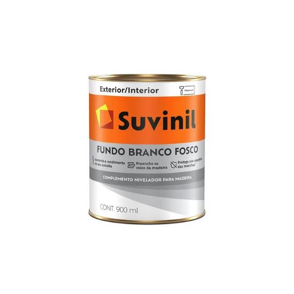 Fundo Branco Fosco P/ Madeira Suvinil 0,9 Litros