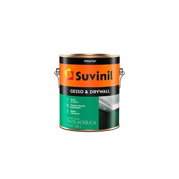Tinta Acrílica Gesso e Drywall Branco 3,6L - Suvinil