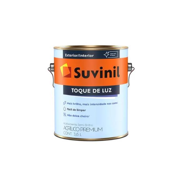 Tinta Acrílica Semi Brilho Suvinil Toque de Luz Branco 3,6L
