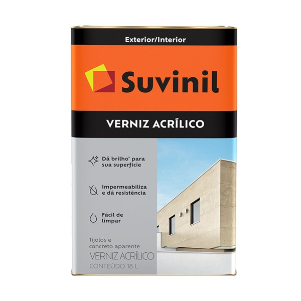 Verniz Acrílico Incolor Suvinil 18L