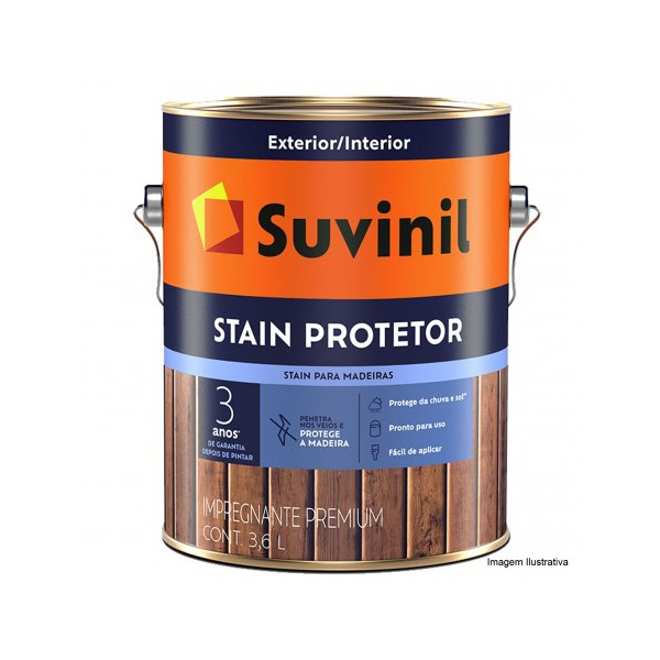 Verniz Stain Mogno Protetor Suvinil 3,6L