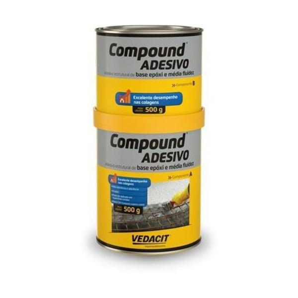 Adesivo Compound - Kit Parte A + Parte B 1kg - Otto Baumgart