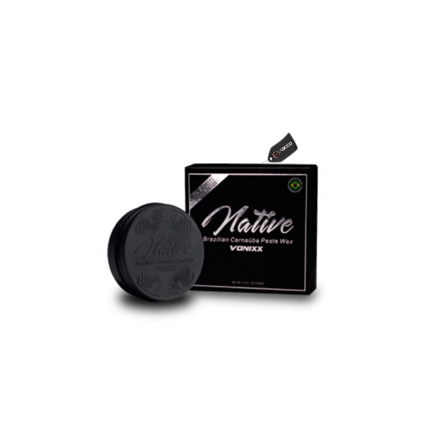 Cera De Carnaúba Para Carros Pretos E Escuros 100g - Native Black - Vonixx