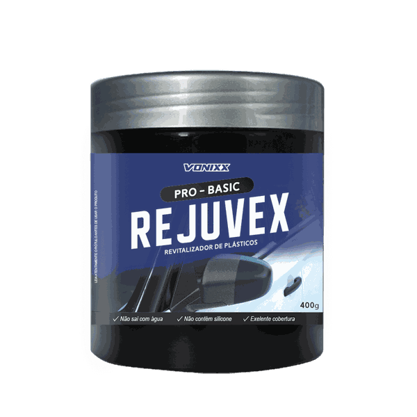 Revitalizador De Plásticos 400g Em Pasta - Rejuvex - Vonixx