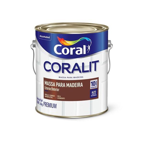 Massa para Madeira 3,6L Coralit