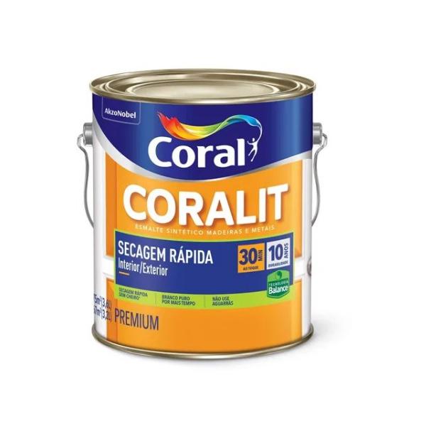 Coralit Acetinado Secagem Rapida Balance 3,6L Coral