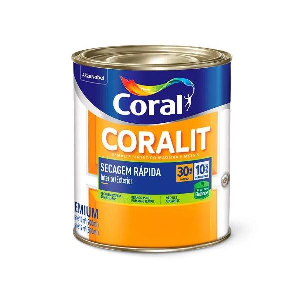 Coralit Acetinado Branco Secagem Rapida 900ML Coral