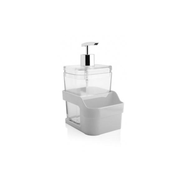 Organizador De Pia C/Dispenser 400ml Branco-Martiplast