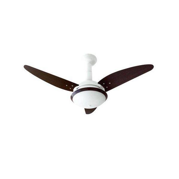 Ventilador De Teto Stilo 3 Pás 127v Branco/Tabaco-Venti Delta