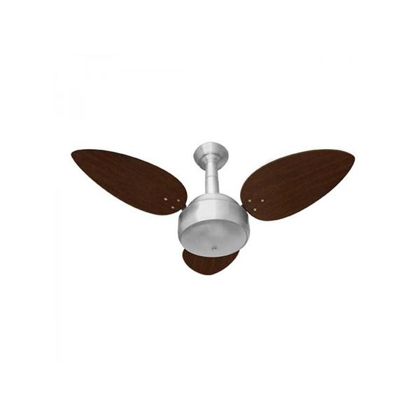 Ventilador De Teto Miray 3 Pás 127v Escovado/Tabaco-Venti Delta