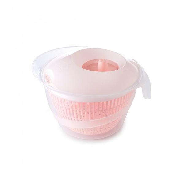 Secador De Salada 4 Litros Grande Rosa-Plasútil