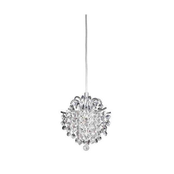 Pendente Fiore Cristal Transparente 16x18cm Para 1 Lâmpada G9-Bella Iluminação