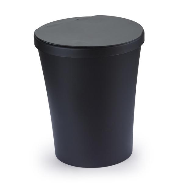 Lixeira P/Banheiro Preta Articulada 5L-Arthi