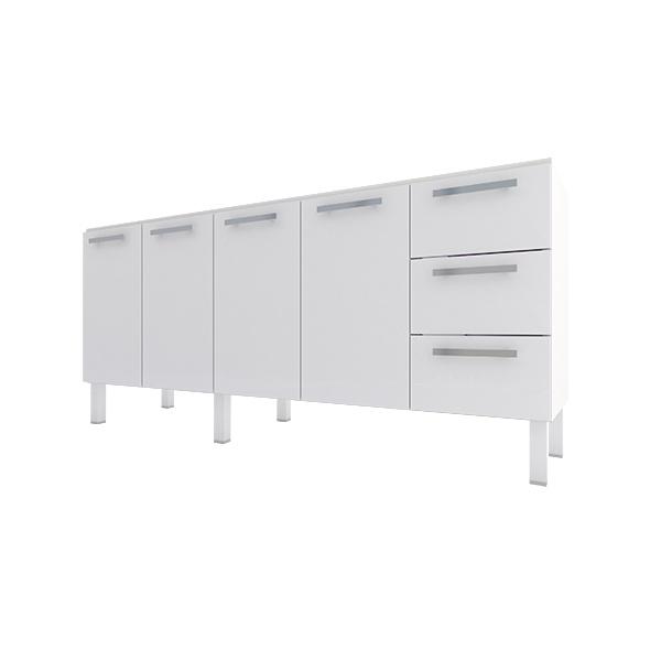 Gabinete Para Cozinha em Aço Venus Flat 2,0 Metros Branco-Cozimax