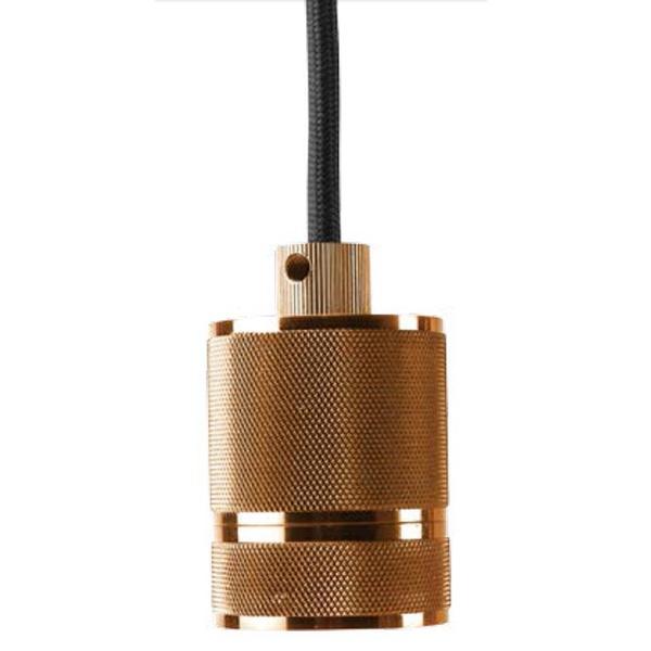 Pendente Socket Cobre 4,8x156cm 1xE27-Bella Iluminação