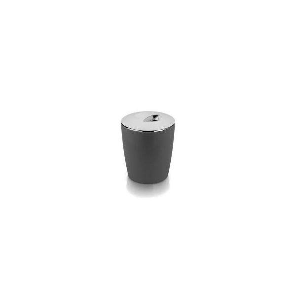 Lixeira Cromo Vitra 5 Litros Chumbo-Martiplast