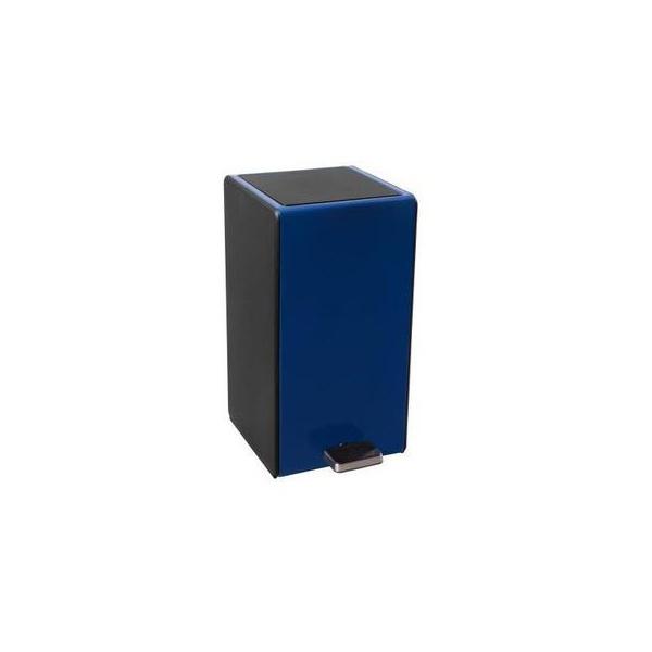 Lixeira com Pedal Retangular Soft 7 Litros Azul-Ghelplus
