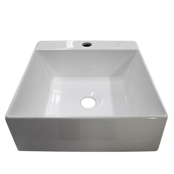 Cuba Para Banheiro Sobrepor Mármore Sintético Cubo 37X35Cm Branca-Cozimax