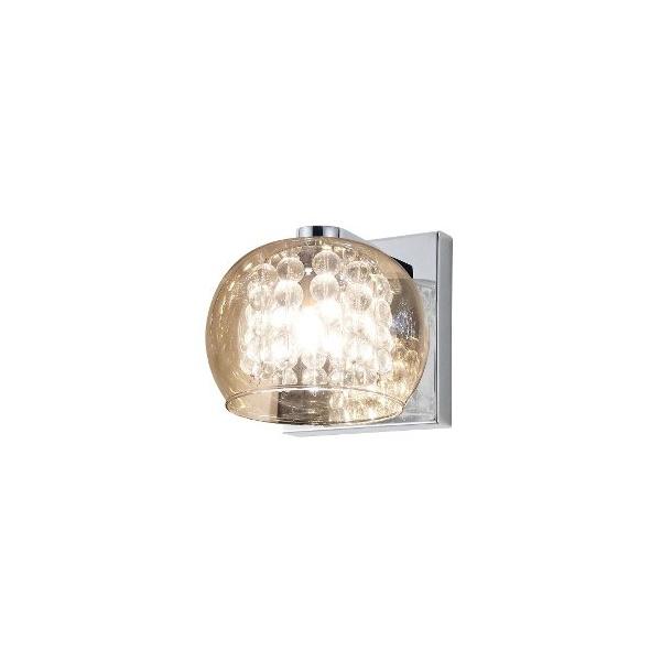 Arandela Soho Metal/Vidro 16x12cm 1xg9 Âmbar/transparente-Bella Iluminação