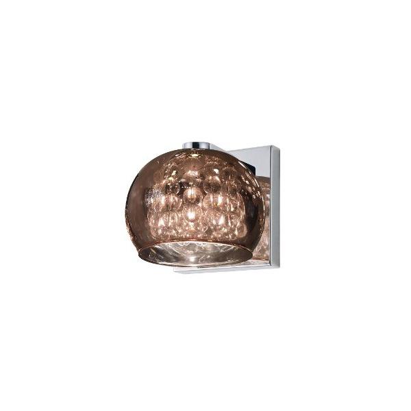 Arandela Soho Metal/Vidro 16x12cm 1xg9 Cromado/Transparente-Bella Iluminação
