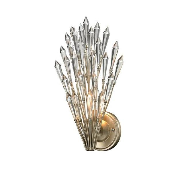 Arandela Bella Decô BO003 20x15x38cm 1 Lâmpada E-14 Prata Envelhecido