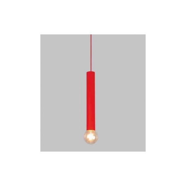 Pendente Usina Design Tubo Electron Vermelho