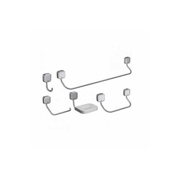 Kit Acessórios para Banheiro Zip 5 Peças Cromado B8000I9CRO Incepa