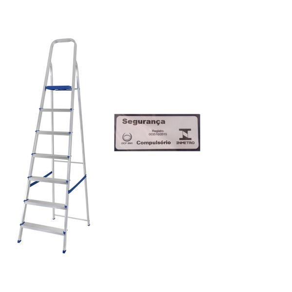Escada Alumínio 7 Degraus-Mor