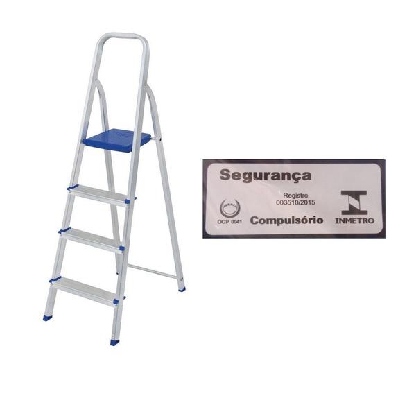 Escada Alumínio 4 Degraus-Mor