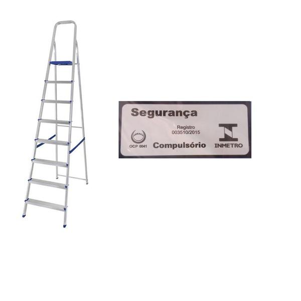 Escada Alumínio 8 Degraus-Mor