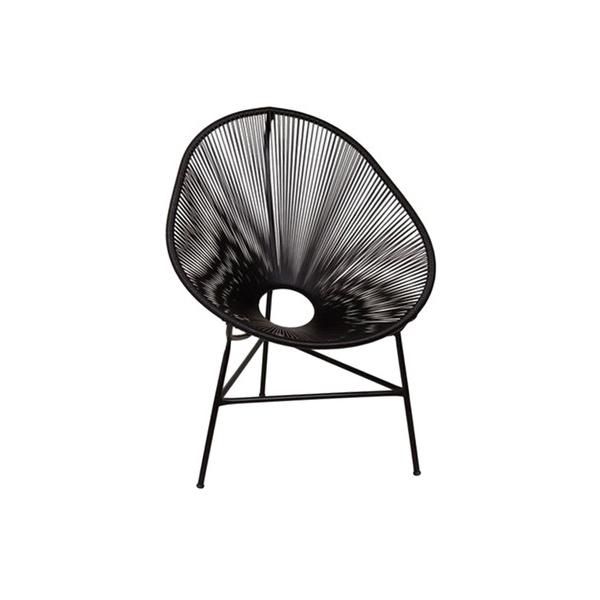 Cadeira Acapulco Preta Justino